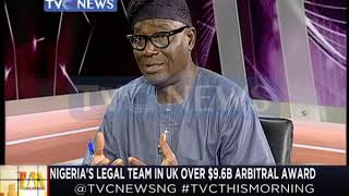 Gambar cover Nigeria Legal team in UK over $9.6bn Arbitral Award