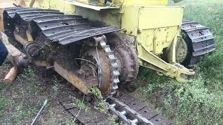 Ремонт бульдозера Т170, одеваем гусянку в поле