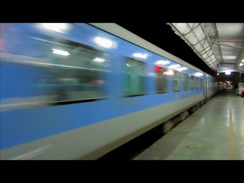 Chandigarh Shatabdi Express thrashes Karnal Station at 110kmph flat !!!
