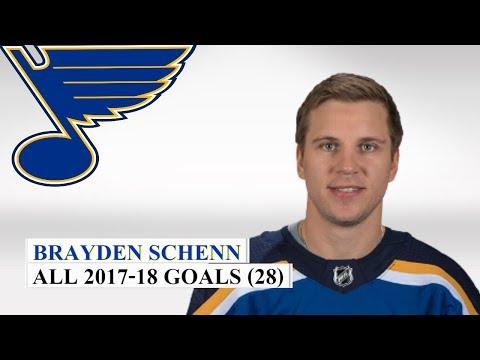Brayden Schenn (#10) All 28 Goals of the 2017-18 NHL Season