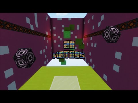 "[Map] "" 20 meters""  -  Minecraft Map parkour 1.10"