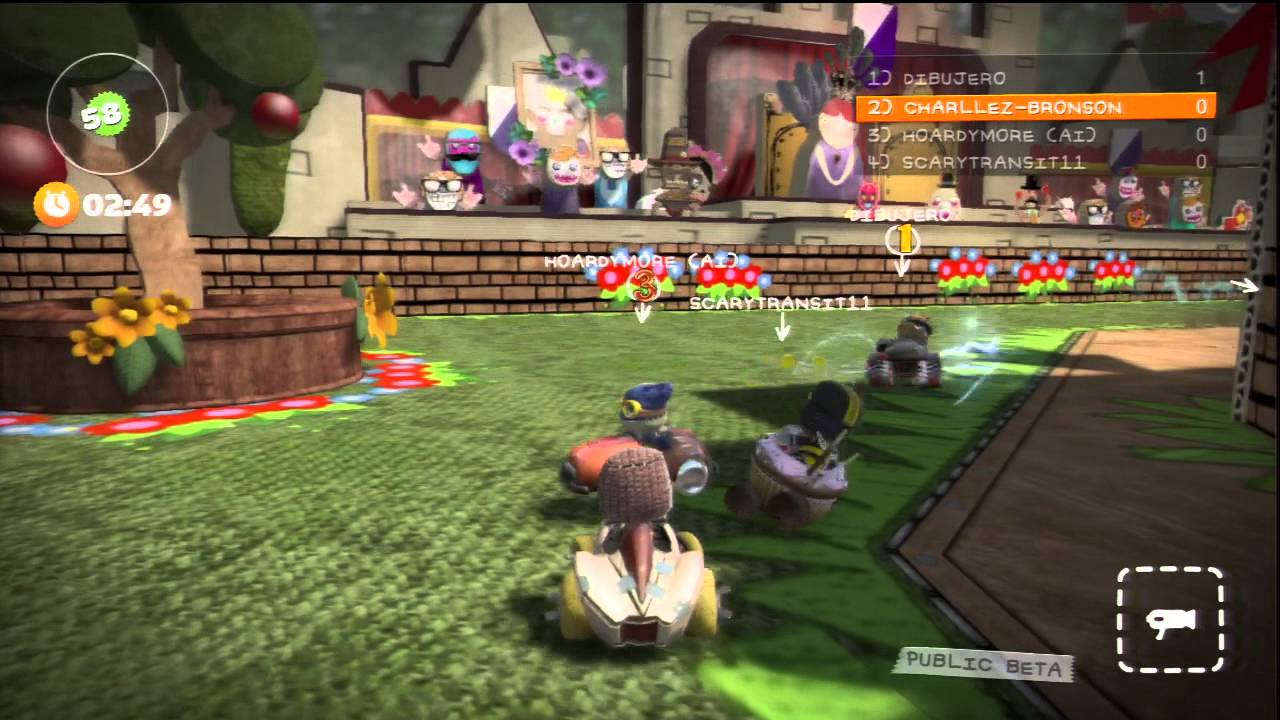 Little Big Planet Karting Multiplayer Gameplay Hd Youtube