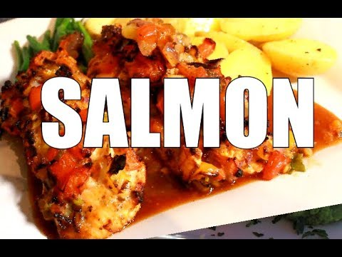 HOW TO COOK SALMON IN THE OVEN - ( SIMPLE OVEN BAKED SALMON )  Chef Ricardo Cooking