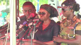 STRONG-WILLED WIFE READS STEADY TRIBUTE TO MAJOR MAXWELL ADAM MAHAMA