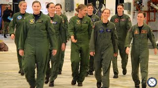 All Female Flyover Honors Passing of First Navy Woman Fighter Pilot Capt Rosemary Mariner