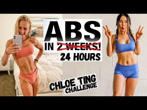 I DID CHLOE TINGS FULL ABS CHALLENGE IN 24 HOURS (14 workouts)& my top tips on how to lose belly fat