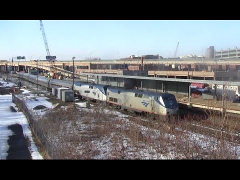 [HD]  Amtrak action around Springfield Mass
