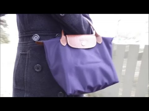 Handbag Day in the Life with Small Le Pliage in Bilberry