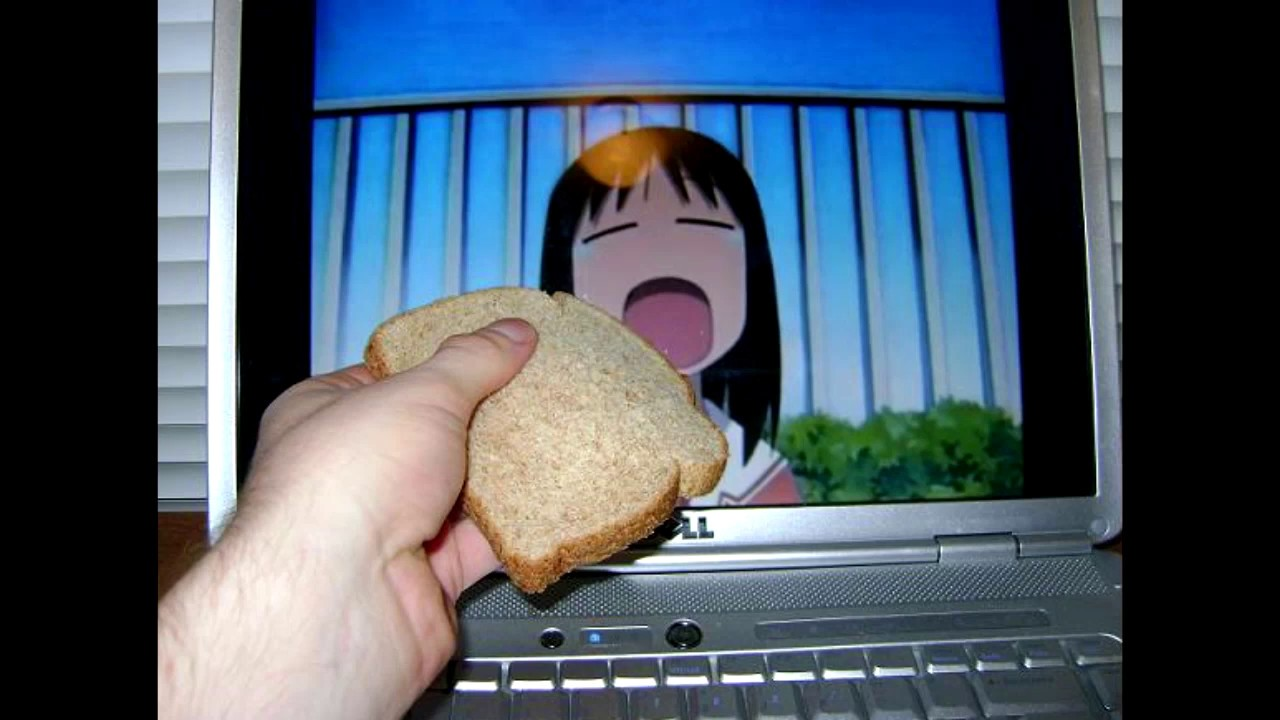 Will she eat the bread?