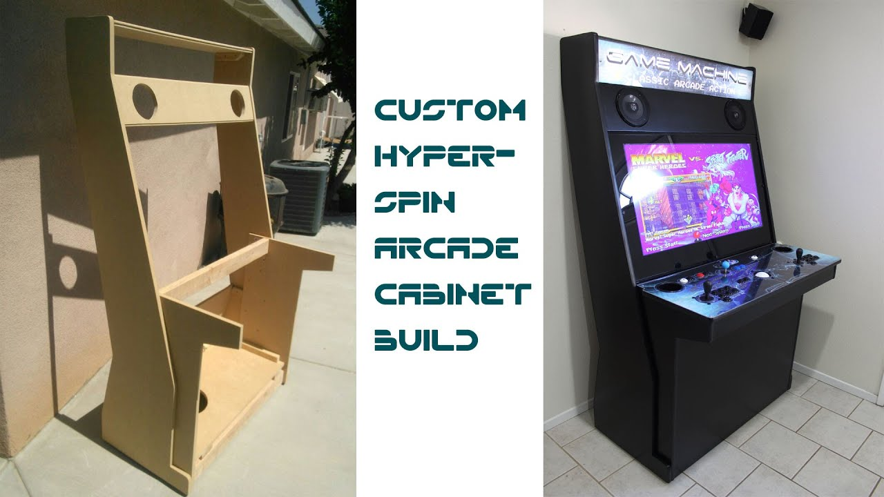 Custom hyperspin arcade cabinet updated with links to plans youtube its youtube uninterrupted malvernweather Gallery
