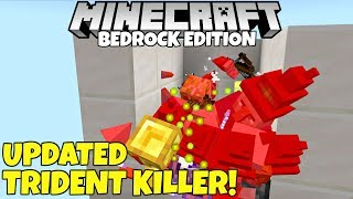 Minecraft Bedrock: Updated Trident Killer Tutorial! AFK EXP And Looting! MCPE Xbox PC PS4