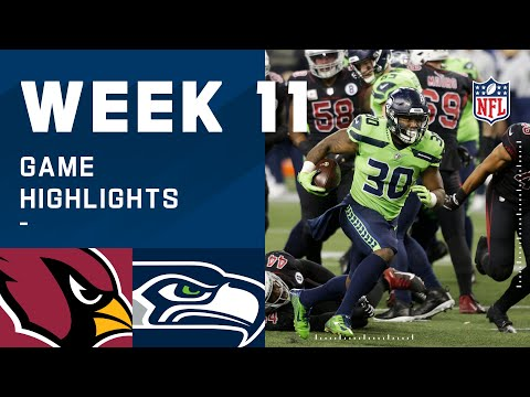 Cardinals vs. Seahawks Week 11 Highlights | NFL 2020
