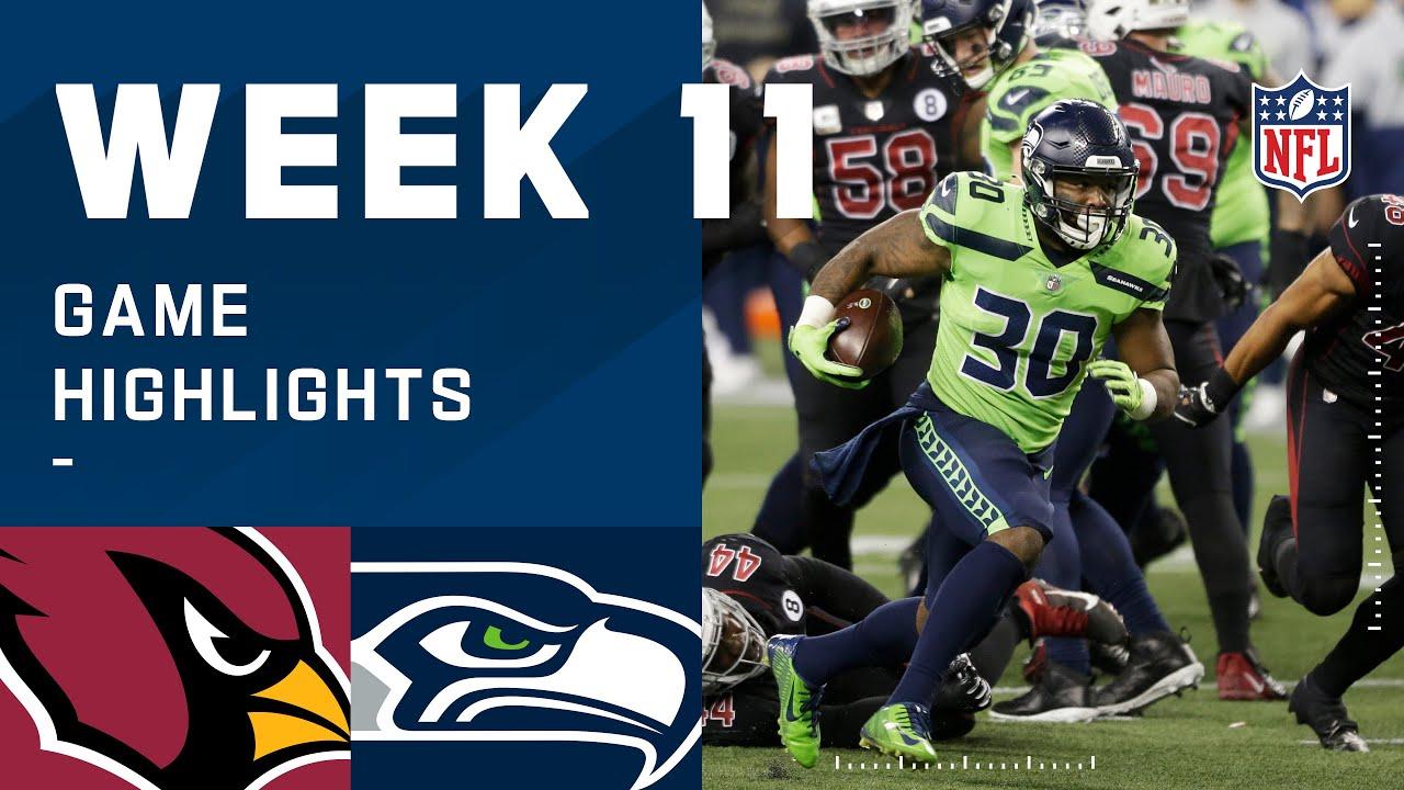 Cardinals vs. Seahawks Week 11 Highlights | NFL 2020