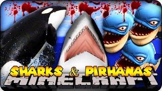 minecraft mods whales sharks deadly pirhanas animals mod showcase