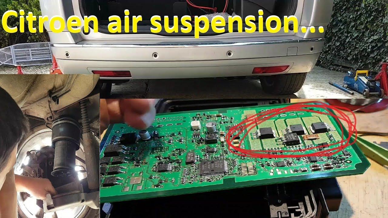 Citroen C4 Picasso Air Suspension Errors C1621  C1196