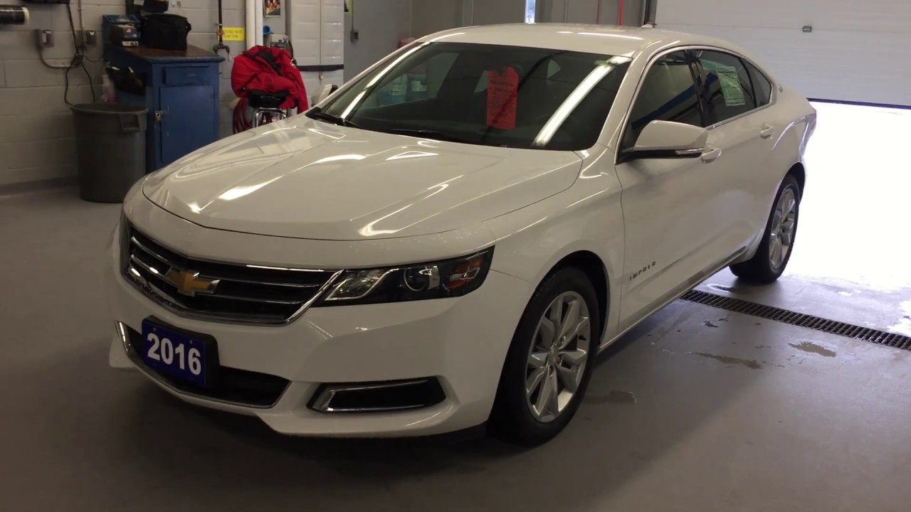 2016 Chevrolet Impala LT White Roy Nichols Motors Courtice