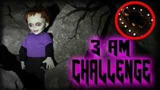 3 AM OVERNIGHT CHALLENGE AT HAUNTED TRAIL || ONE MAN HIDE AND SEEK WITH POSSESSED GLEN DOLL!!