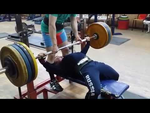 Sergey Fedosienko, bench press RAW 172.5kg /380lbs x 3 reps