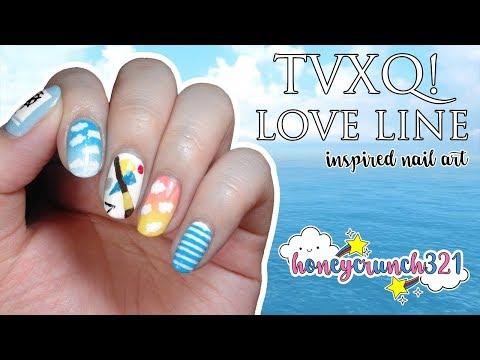 TVXQ! 동방신기 '평행선' (Love Line) Inspired Nail Art | honeycrunch321