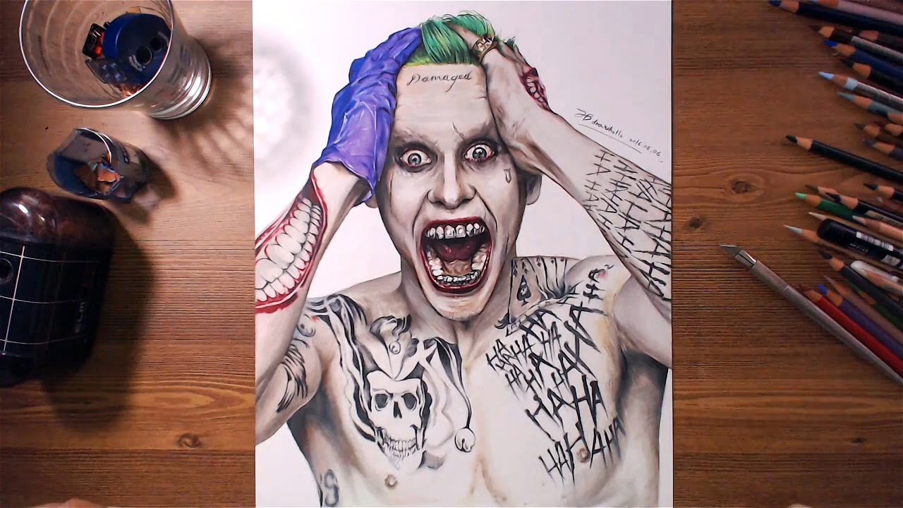 Suicide Squad Joker Jared Leto Speed Drawing Youtube