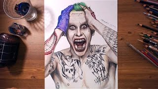 Suicide Squad : Joker (Jared Leto) - Speed drawing