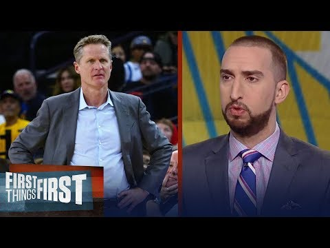 Nick Wright on Steve Kerr allowing players to coach in blowout win against Suns | FIRST THINGS FIRST