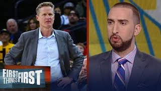 Nick Wright on Steve Kerr allowing players to coach in blowout win against Suns   FIRST THINGS FIRST