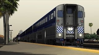 TS2014 Railworks - Amtrak Pacific Surfliner Cabride; Solana Beach, CA - Oceanside, CA