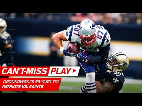 Tom Brady & Rob Gronkowski's Huge 53-Yard TD Connection! | Can't-Miss Play | NFL Wk 2 Highlights