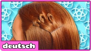 Dreifacher Knoten Frisur - Triple Knot Hair | Frisur für kurzes Haar | Hairstyle in German