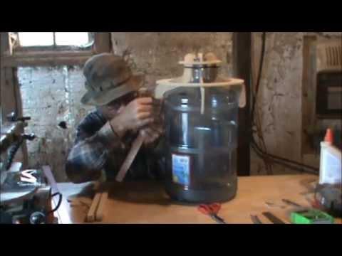 Water bottle bongo - conga & portable stand.