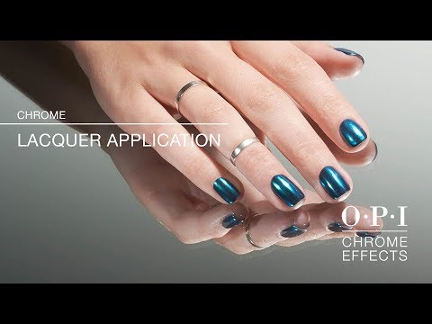 OPI Chrome Effects   Nail Lacquer Application How-To - YouTube