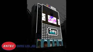 LED trang trí mặt tiền tòa nhà khách sạn, nhà hàng - Đèn LED Nội địa Hàn Quốc