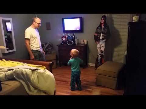 Linus and Brian singing Karaoke