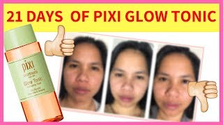 PIXI GLOW TONIC 21 DAY REVIEW 2018...RESULTS MAY SHOCK YOU!