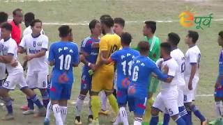 Nepal apf vs three star football club fight in football match