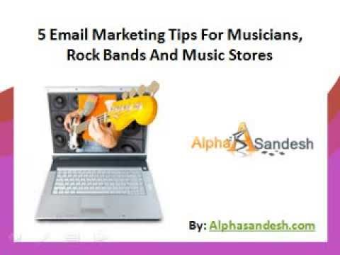 5 Email Marketing Tips For Musicians, Rock Bands And Music Stores
