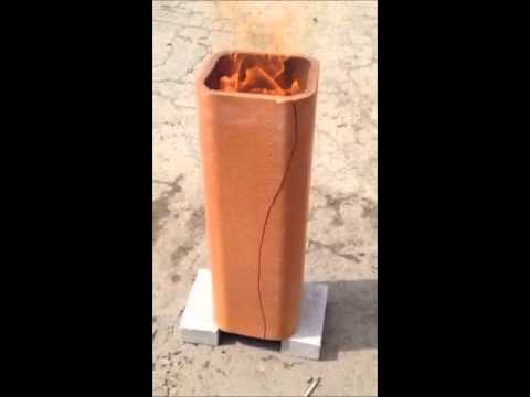 Chimney clay flue tile cracking during fire youtube for Close chimney flue