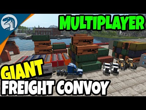 BIG SHIP HARBOR CARGO LOAD & FREIGHT CONVOY | Farming Simulator 17 Multiplayer Gameplay