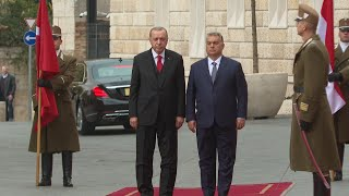 Hungarian Prime Minister Viktor Orban welcomes Recep Tayyip Erdogan in Budapest  | AFP