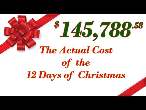 The actual cost of the 12 Days of Christmas   Downloadable Spreadsheet