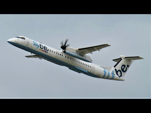 Ex FlyBe Dash 8-400 G-ECOF Departs Manchester Airport for the FINAL Time!