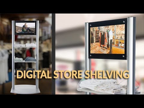 Merchandising Shelves with Digital Signage