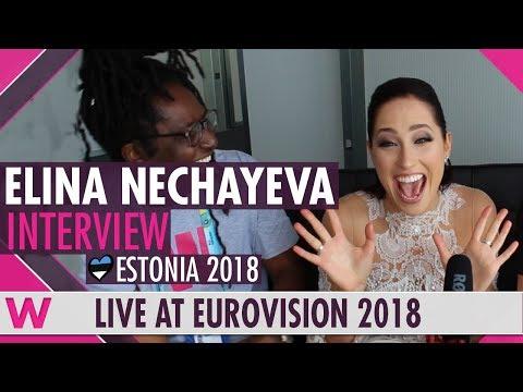 Elina Nechayeva (Estonia) Interview @ Eurovision 2018 | wiwibloggs