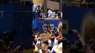 Kevin Durant at the parade 2018