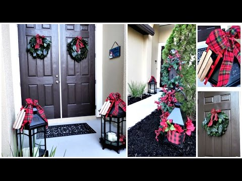 NEW! | Budget Friendly Christmas Front Porch Entryway Decor Ideas