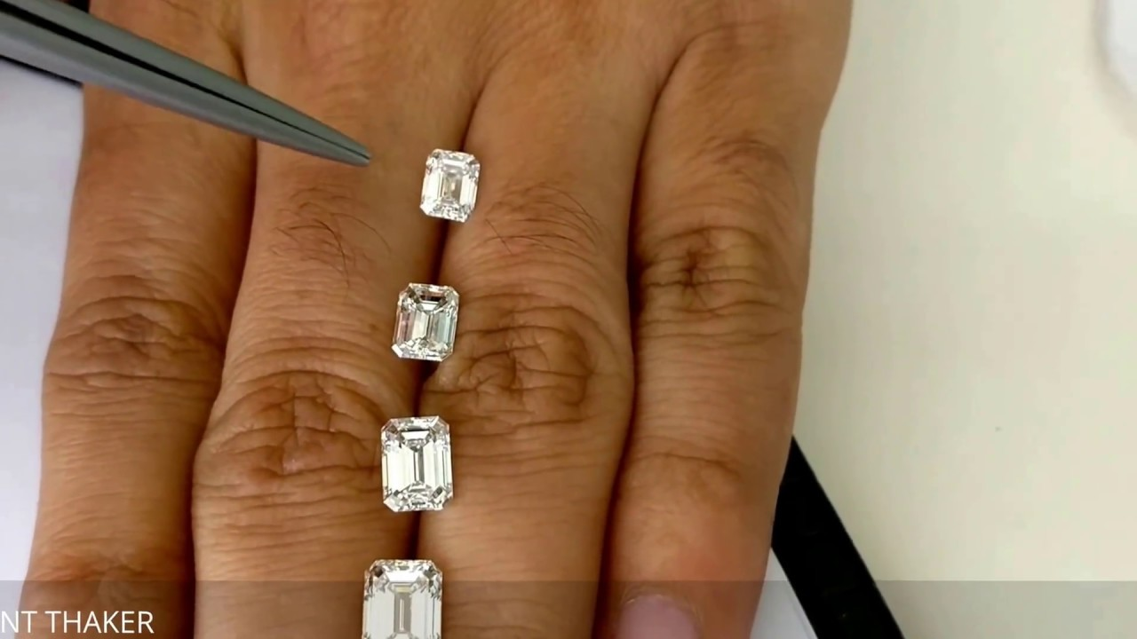 Emerald cut diamond size compare on hand ct untill ct also youtube rh