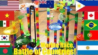 Marble Racing Olympics! Marble Racing Battle of Countries. Fun Family Toy Racing Race #72