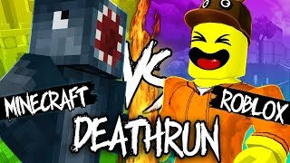 MINECRAFT DEATHRUN VS ROBLOX DEATHRUN!