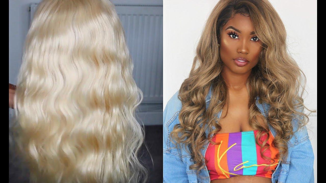 BEST ASH BLONDE HAIR FOR DARK SKIN   UNICE HAIR - YouTube